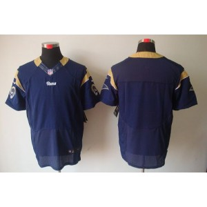 Nike St.Louis Rams Blank Navy Blue Elite Jersey