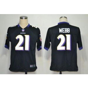 Nike NFL Baltimore Ravens 21 Lardarius Webb Black NFL Game Football Jersey