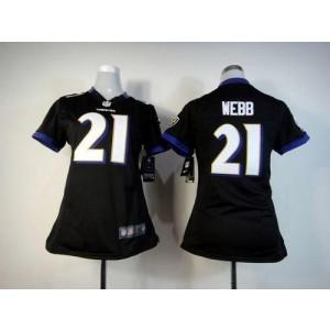 NFL Nike Baltimore Ravens 21 Lardarius Webb Black Women's Elite Jersey