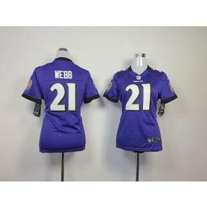 NFL Nike Baltimore Ravens 21 Lardarius Webb Purple Women's Elite Jersey