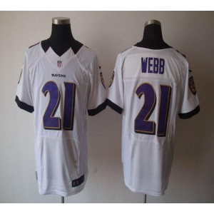 Nike NFL Baltimore Ravens 21 Lardarius Webb White NFL Elite Football Jersey