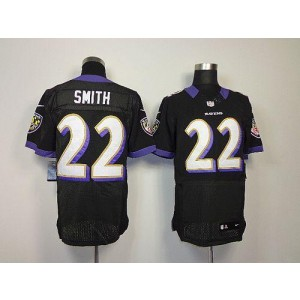 Nike NFL Baltimore Ravens 22 Jimmy Smith Black NFL Elite Football Jersey