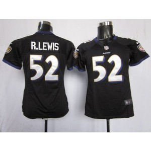 NFL Nike Baltimore Ravens 52 Ray Lewis Black Women's Elite Jersey