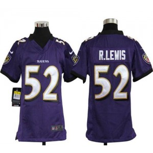Youth Nike Baltimore Ravens 52 Ray Lewis Purple NFL Elite Jersey