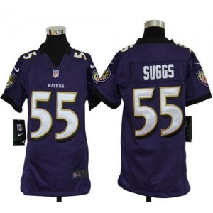 Youth Nike Baltimore Ravens 55 Terrell Suggs Purple NFL Elite Jersey