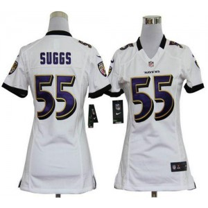 NFL Nike Baltimore Ravens 55 Terrell Suggs White Women's Elite Jersey