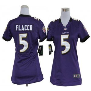 NFL Nike Baltimore Ravens 5 Joe Flacco Purple Women's Elite Jersey