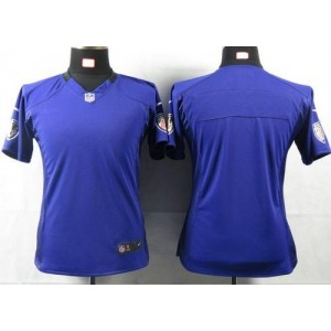 NFL Nike Baltimore Ravens Blank Purple Women's Game Jersey