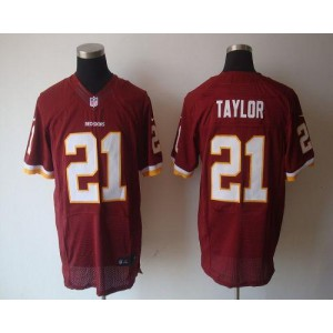 Nike Washington Redskins No.21 Sean Taylor Burgundy Red Elite Football Jersey