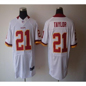 Nike Washington Redskins No.21 Sean Taylor White Elite Football Jersey
