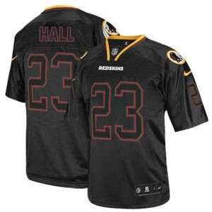 Nike Washington Redskins No.23 DeAngelo Hall Lights Out Black Elite Football Jersey