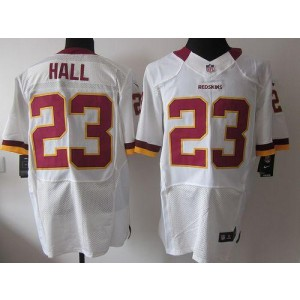 Nike Washington Redskins No.23 DeAngelo Hall White Elite Football Jersey
