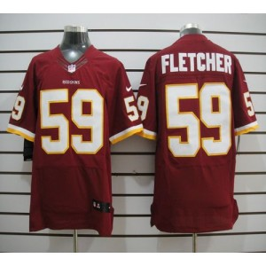 Nike Washington Redskins No.59 London Fletcher Burgundy Red Elite Football Jersey