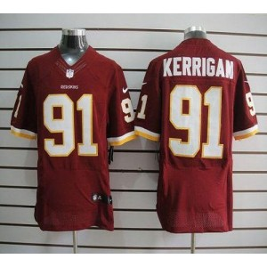 Nike Washington Redskins No.91 Ryan Kerrigan Burgundy Red Elite Football Jersey