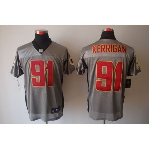 Nike Washington Redskins No.91 Ryan Kerrigan Grey Shadow Elite Football Jersey