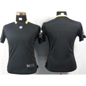 Nike NFL New Orleans Saints Blank Black Women Jersey