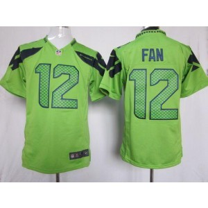 Nike Seattle Seahawks No.12 Fan Green Game Jersey