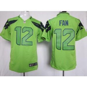 Nike Seattle Seahawks No.12 Fan Green Game Jersey