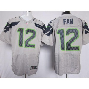 Nike Seattle Seahawks No.12 Fan Grey Elite Jersey