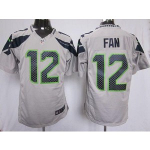 Nike Seattle Seahawks No.12 Fan Grey Game Jersey