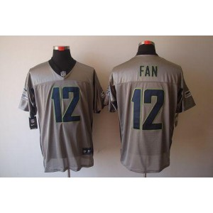 Nike Seattle Seahawks No.12 Fan Grey Shadow Elite Jersey