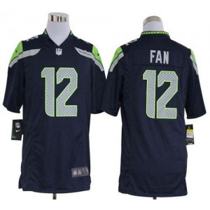 Nike Seattle Seahawks No.12 Fan Steel Blue Game Jersey