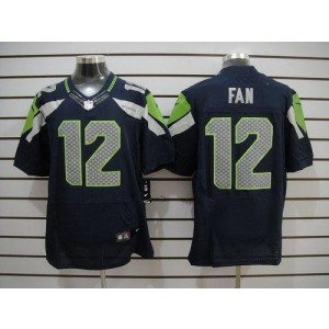 Nike Seattle Seahawks No.12 Fan Steel Blue Elite Jersey