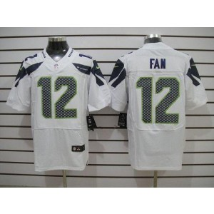 Nike Seattle Seahawks No.12 Fan White Elite Jersey