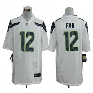 Nike Seattle Seahawks No.12 Fan White Game Jersey