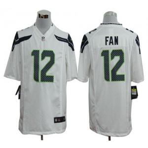 Nike Seattle Seahawks No.12 Fan White Game Jersey