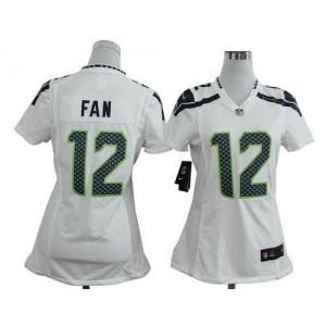NFL Nike Seahawks 12 Fan White Women's Elite Jersey