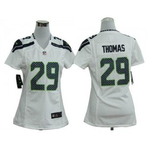 NFL Nike Seahawks 29 Earl Thomas White Women's Elite Jersey