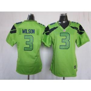 NFL Nike Seahawks 3 Russell Wilson Green Women's Elite Jersey
