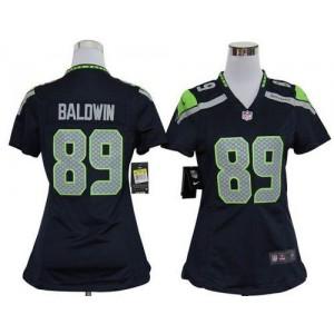 NFL Nike Seahawks 89 Doug Baldwin Steel Blue Women's Elite Jersey