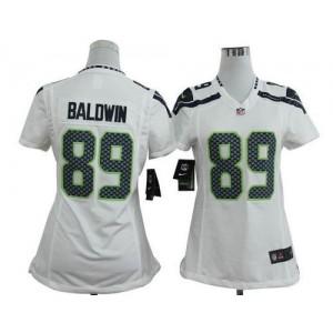 NFL Nike Seahawks 89 Doug Baldwin White Women's Elite Jersey