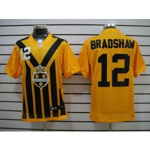 Nike Pittsburgh Steelers No.12 Terry Bradshaw Gold 1933s Throwback Elite Jersey