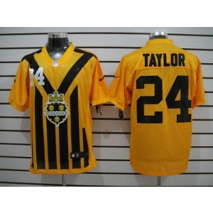 Nike Pittsburgh Steelers No.24 Ike Taylor Gold 1933s Throwback Elite Jersey