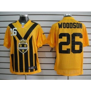 Nike Pittsburgh Steelers No.26 Rod Woodson Gold 1933s Throwback Elite Jersey