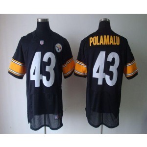 Nike Pittsburgh Steelers No.43 Troy Polamalu Black Elite Jersey