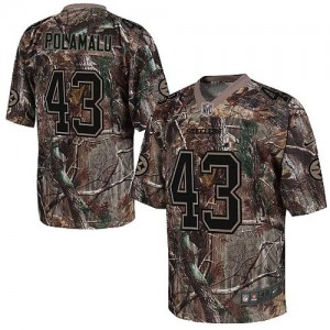 Nike Pittsburgh Steelers No.43 Troy Polamalu Camo Realtree Elite Jersey