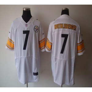 Nike Pittsburgh Steelers No.7 Ben Roethlisberger White Elite Jersey