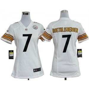 NFL Nike Steelers 7 Ben Roethlisberger White Women's Elite Jersey