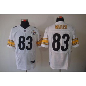 Nike Pittsburgh Steelers No.83 Heath Miller White Elite Jersey
