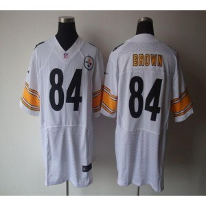 Nike Pittsburgh Steelers No.84 Antonio Brown White Elite Jersey