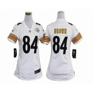 NFL Nike Steelers 84 Antonio Brown White Women's Elite Jersey