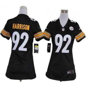 NFL Nike Steelers 92 James Harrison Black Women's Elite Jersey