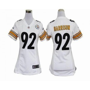NFL Nike Steelers 92 James Harrison White Women's Elite Jersey