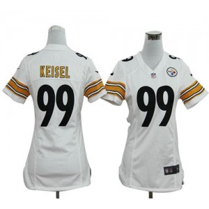 NFL Nike Steelers 99 Brett Keisel White Women's Elite Jersey