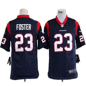 Nike Houston Texans No.23 Arian Foster Navy Blue Game Stitched Football Jersey