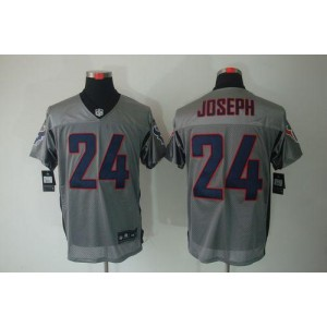 Nike Houston Texans No.24 Johnathan Joseph Grey Shadow Elite Stitched Football Jersey